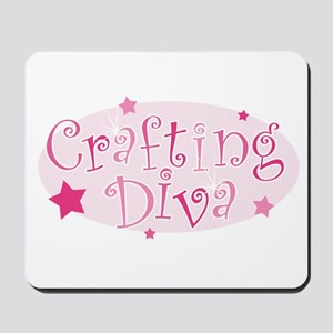 """Crafting Diva"" [pink] Mousepad"